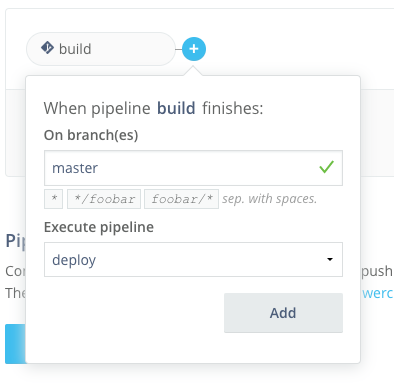 Adding pipeline to workflow